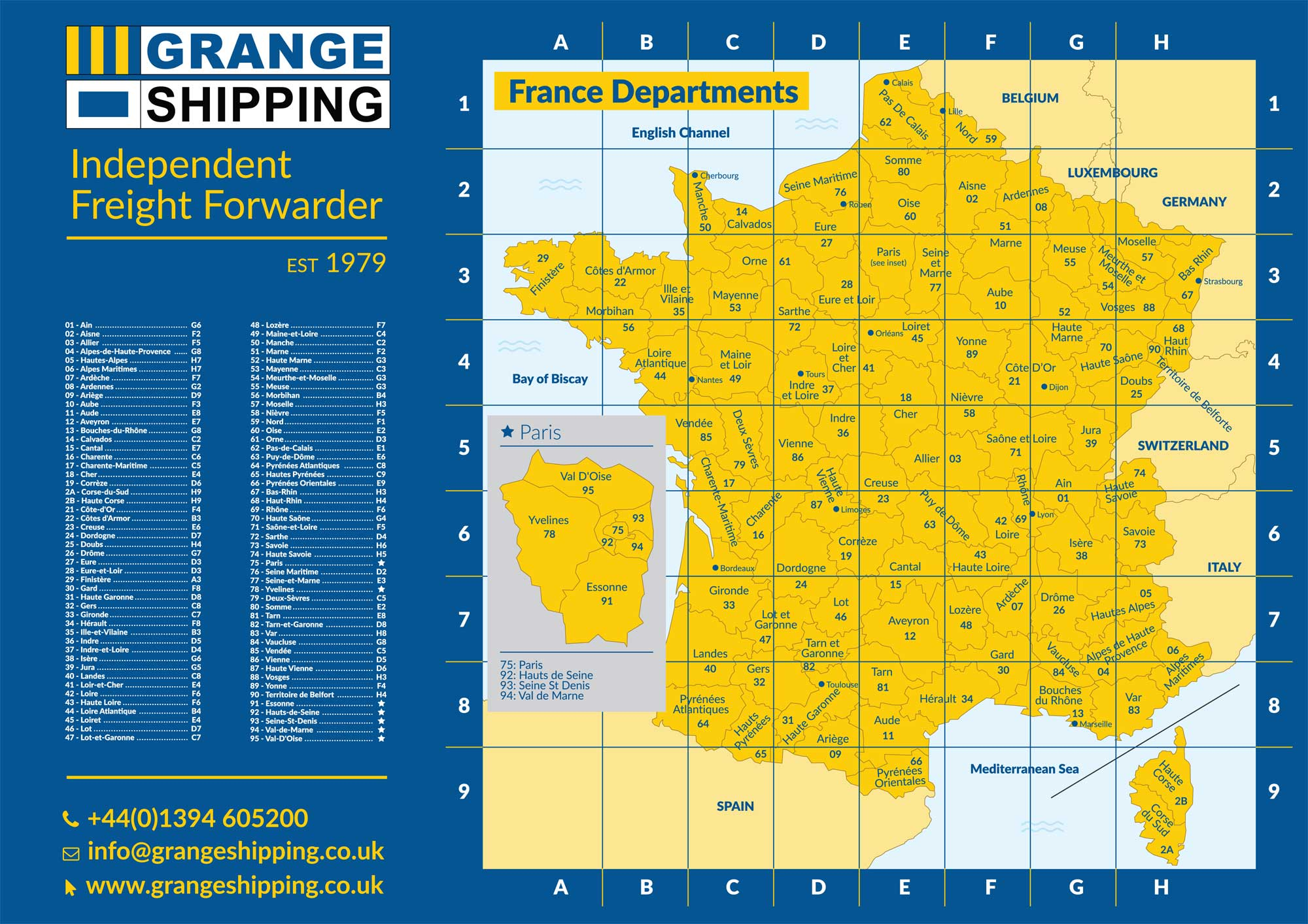 France Departments Map